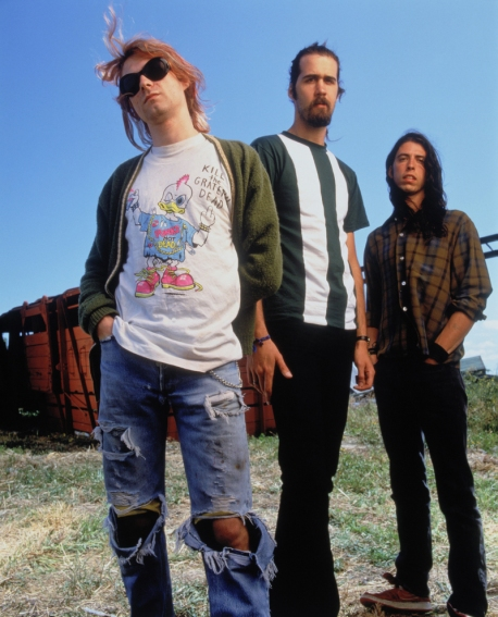 From L: Kurt Cobain, Krist Novoselic, Dave Grohl